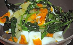 Pommes de terre et épinard