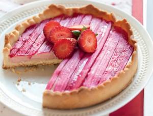 Rhubarbe et rose