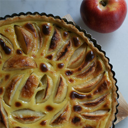 tarte aux pommes bio